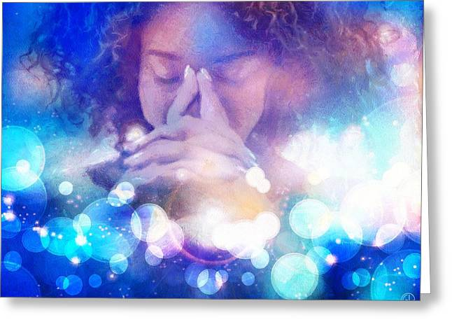 Greeting Card featuring the digital art Pleasant Daydream by Gun Legler