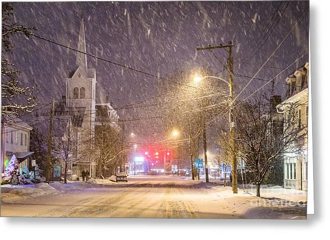 Pleasant Street Snow Greeting Card