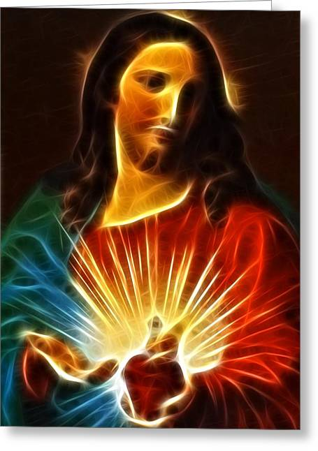 Jesus Thorns Greeting Cards - Please Believe in Me Greeting Card by Pamela Johnson