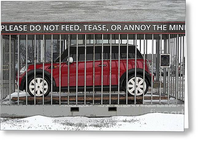 Please Do Not Feed Tease Or Annoy The Mini Greeting Card by Teresa Zieba