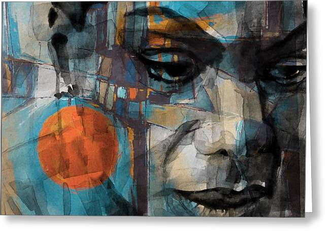 Greeting Card featuring the mixed media Please Don't Let Me Be Misunderstood by Paul Lovering