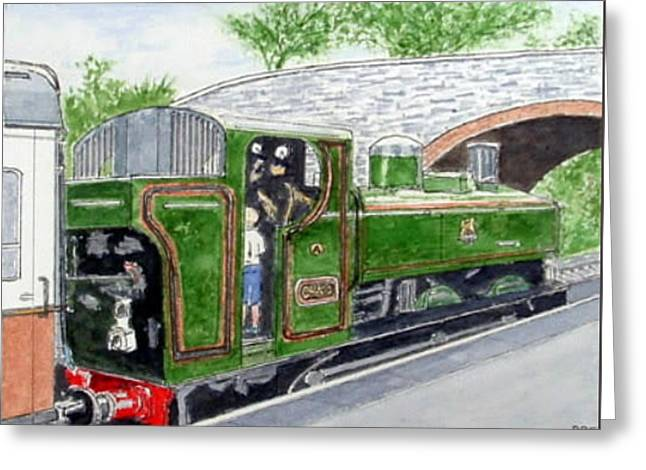 Please May I Drive? - Llangollen Steam Railway, North Wales Greeting Card by Peter Farrow