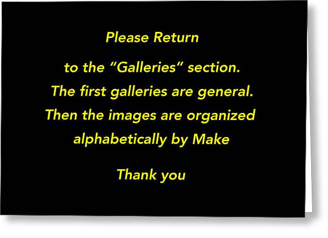 Please Return To Galleries Option Greeting Card by Jill Reger