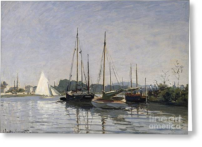 Pleasure Boats Argenteuil Greeting Card by Claude Monet