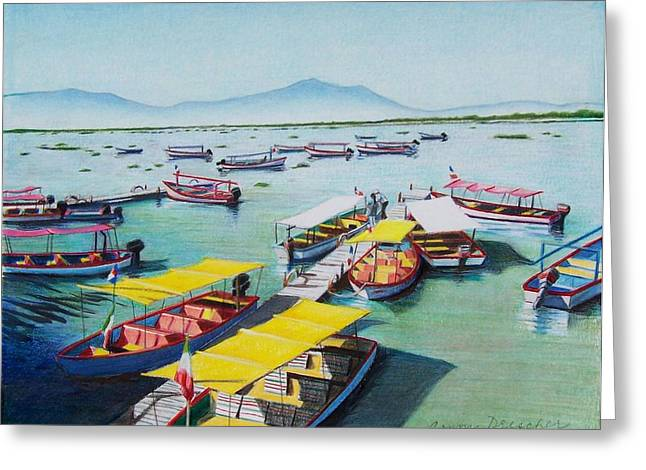 Pleasure Boats On Lake Chapala Greeting Card by Constance Drescher