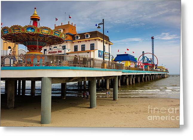Pleasure Pier Greeting Card by Inge Johnsson