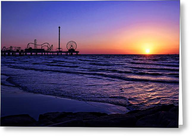 Pleasure Pier Sunrise Greeting Card