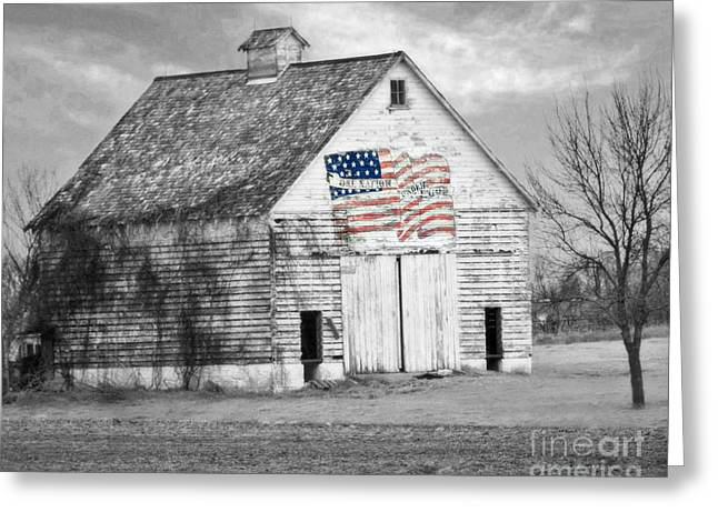 Pledge Of Allegiance Crib Greeting Card by Kathy M Krause