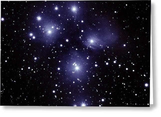 M45 Pleiades Greeting Card
