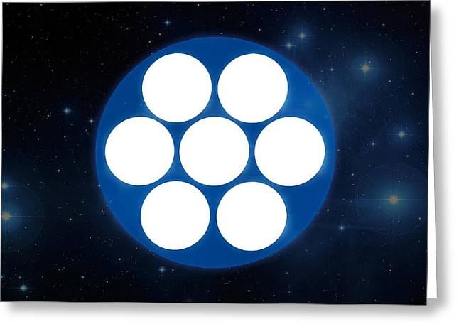 Pleiades 'phone Number' Greeting Card by Michal Sornat