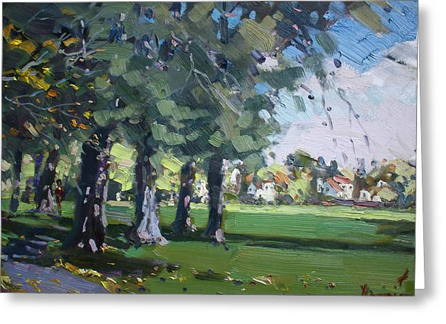 Plein Air At Jayne Park In Cayuga Island  Greeting Card