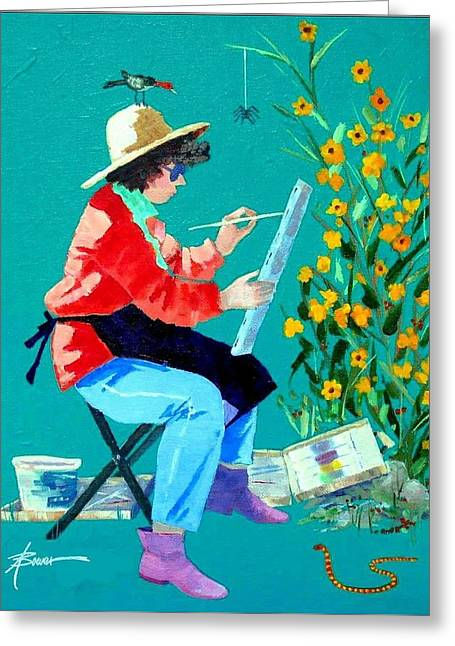Plein Air Painter  Greeting Card