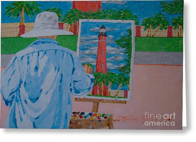 Plein-air Painter Greeting Card