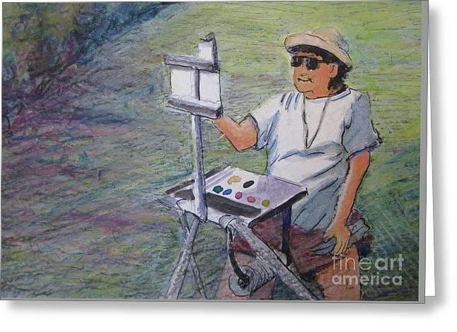 Plein-air Painter Bj Greeting Card