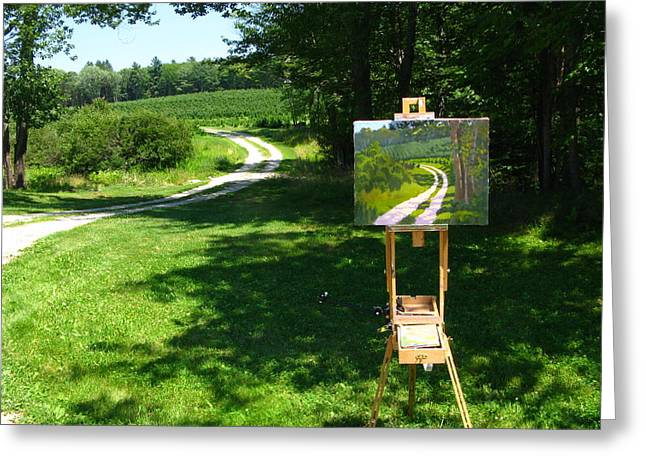 Plein Air Painter's Studio Greeting Card