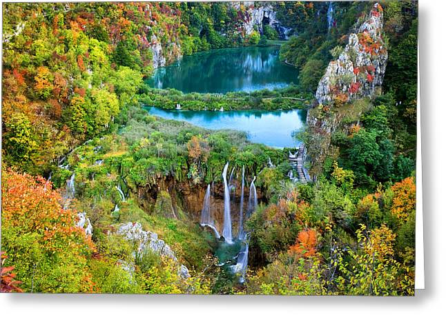 Plitvice Lakes In Croatia Greeting Card