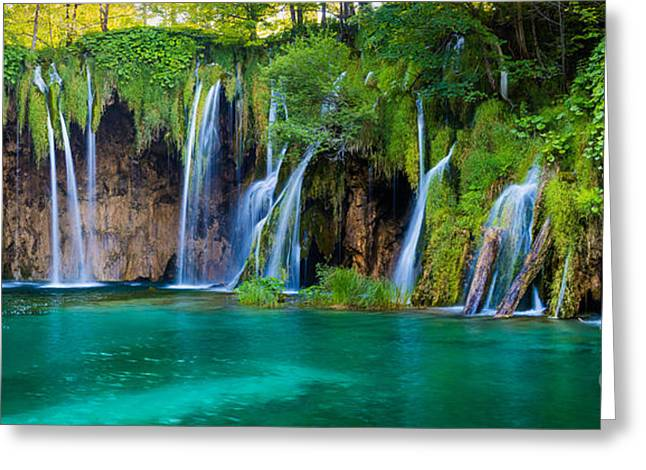 Plitvice Panorama Greeting Card by Inge Johnsson