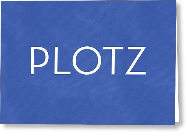 Plotz- Art By Linda Woods Greeting Card