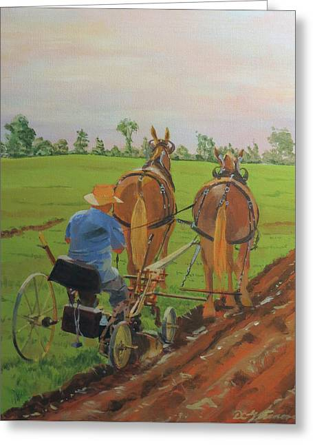 Plowing Match Greeting Card