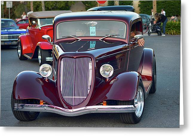 Plum 34 Coupe Greeting Card by Bill Dutting
