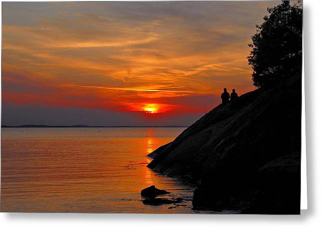 Plum Cove Sunset Greeting Card