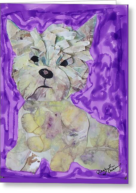 Plum Pup Greeting Card