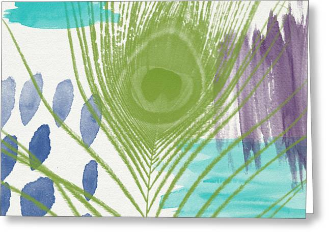 Plumage 4- Art By Linda Woods Greeting Card