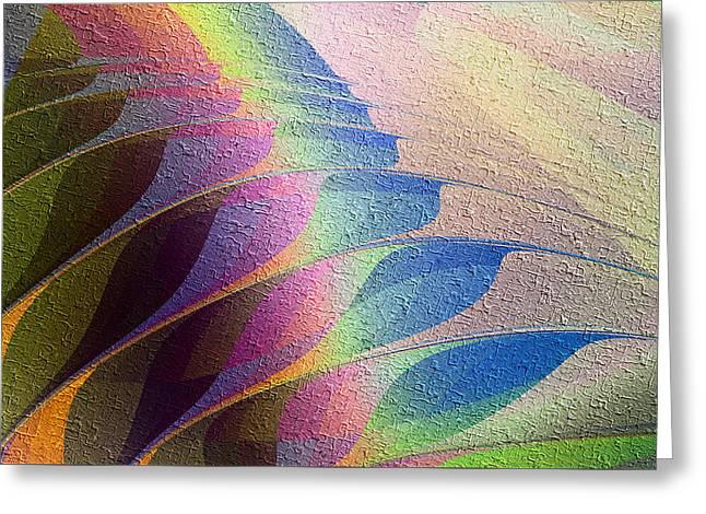 Greeting Card featuring the digital art Plumage by Kiki Art
