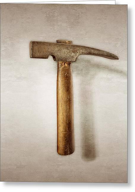 Plumb Masonry Hammer Greeting Card by YoPedro
