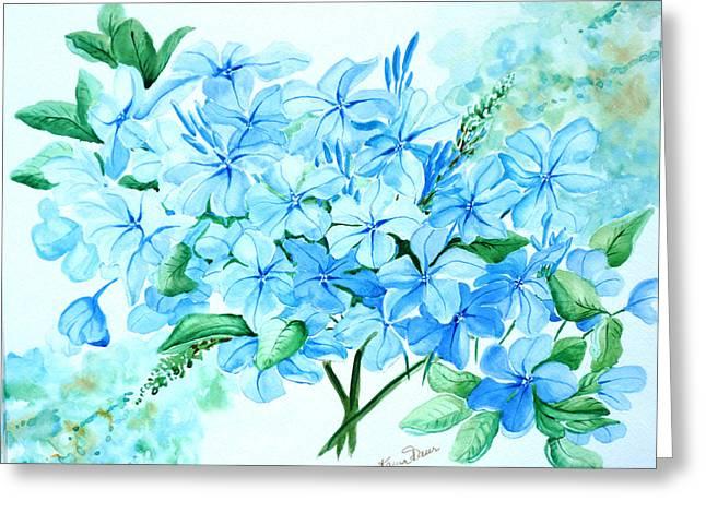 Plumbago Greeting Card by Karin  Dawn Kelshall- Best