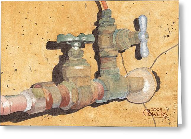 Plumbing Greeting Card by Ken Powers