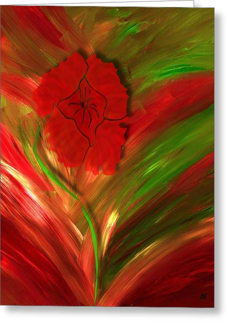 Plume Of Remembrance Greeting Card