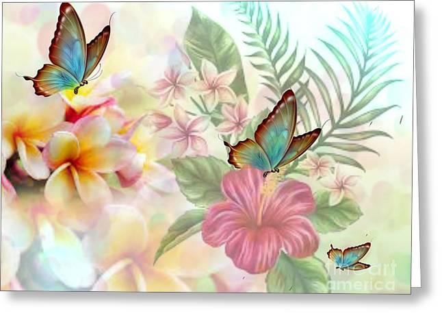 Plumeria Dreams Greeting Card