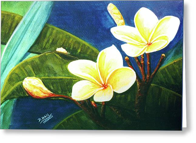 Plumeria Flower # 140 Greeting Card by Donald k Hall
