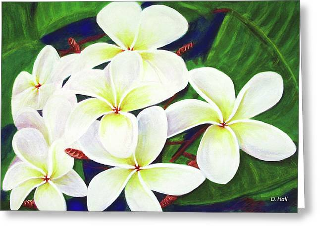 Plumeria Flower #289 Greeting Card by Donald k Hall