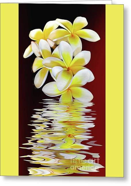 Plumeria Reflections By Kaye Menner Greeting Card