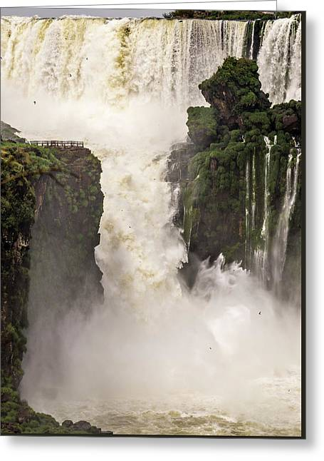 Greeting Card featuring the photograph Plunge by Alex Lapidus