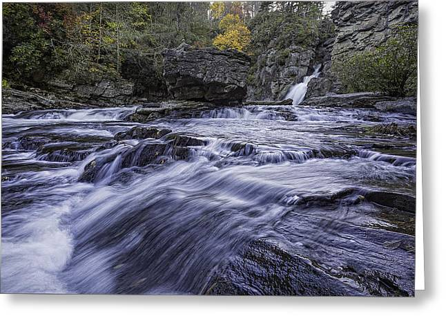 Greeting Card featuring the photograph Plunge Basin Linville Falls by Ken Barrett