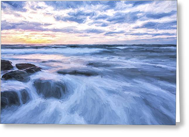 Plunge Into The Blue II Greeting Card by Jon Glaser