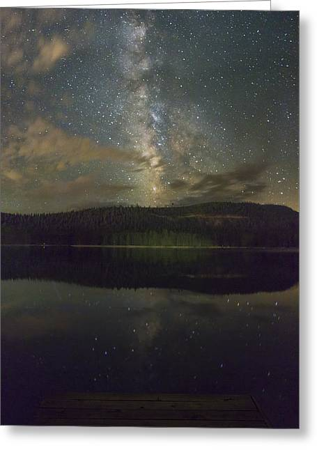 Plunge Into The Universe Greeting Card by Jeremy Jensen