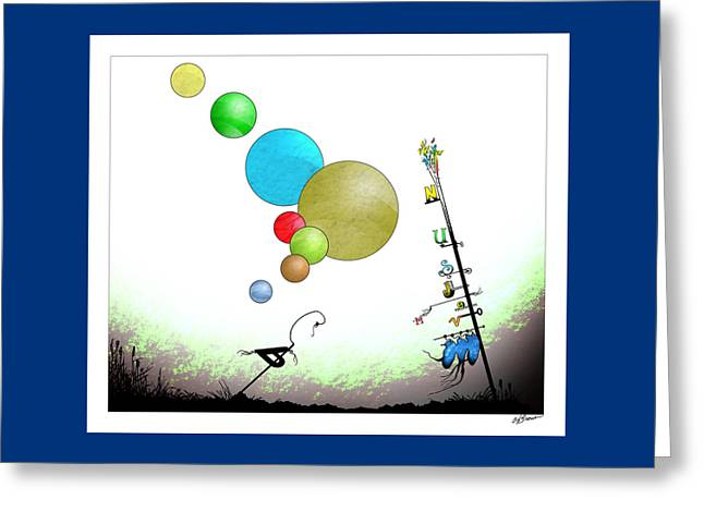 Pluto Abandoned By Planets Greeting Card by Ch' Brown