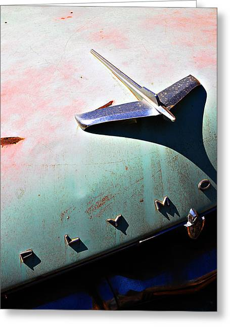 Plymo -- Abandoned Car In Monterey County, California Greeting Card