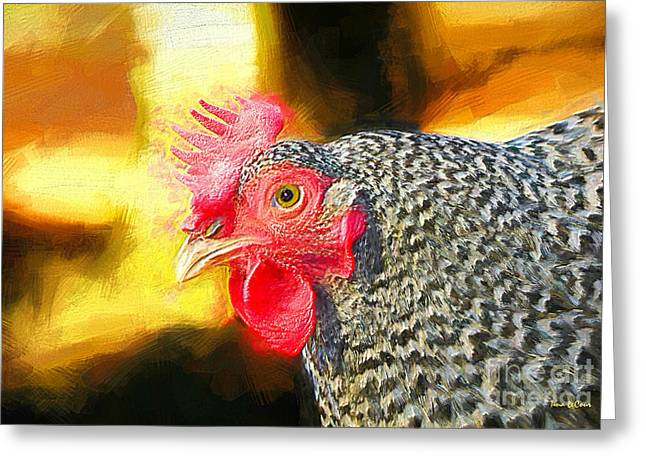 Plymouth Barred Rock Portrait Greeting Card