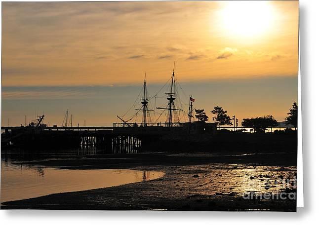 Plymouth Harbor Sunrise Greeting Card