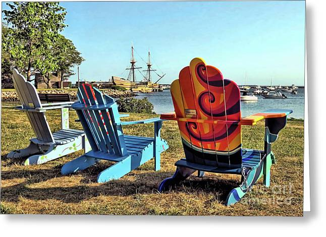 Plymouth Ma Supports The Arts  Greeting Card by Janice Drew