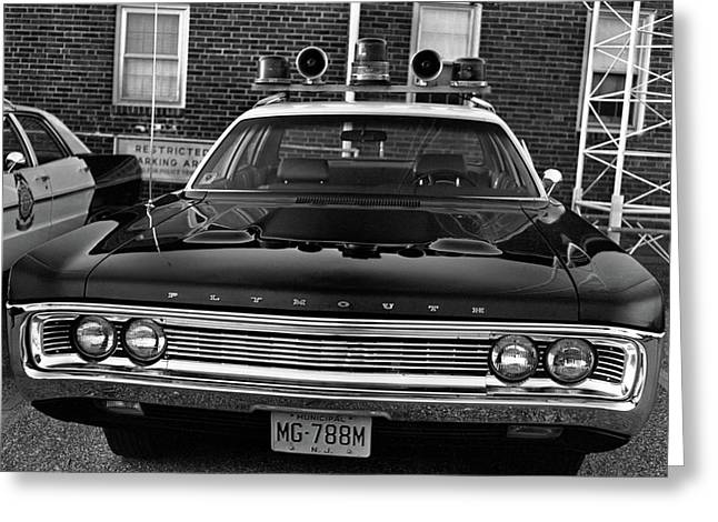 Plymouth Police Car Greeting Card by Paul Seymour