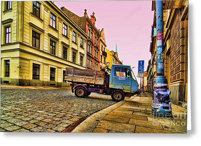 Plzen In Hdr Czech Republic Greeting Card