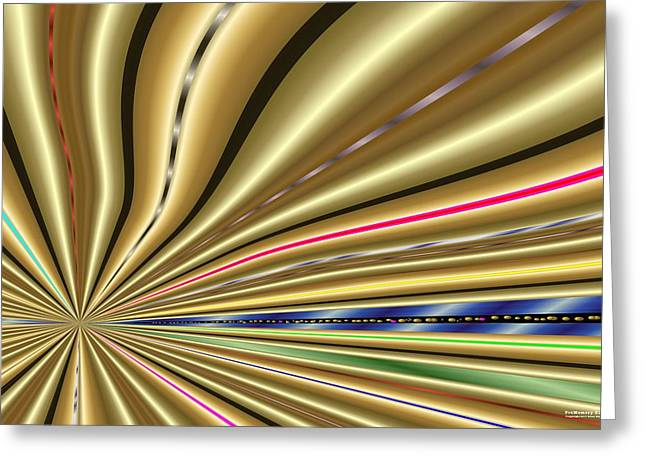 Greeting Card featuring the digital art Pm2122 by Brian Gryphon