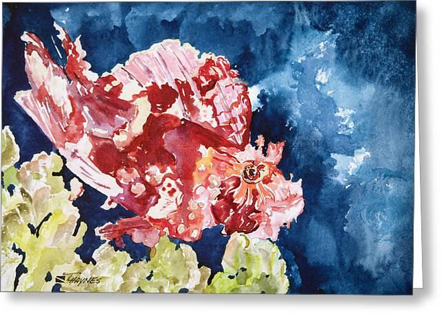 Underwater View Paintings Greeting Cards - PNG Leaf Fish Greeting Card by Tanya L Haynes - Printscapes