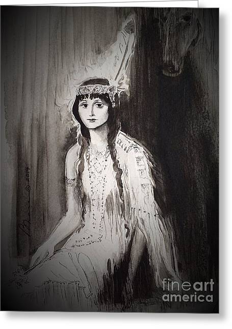 Pocahontas  Greeting Card by Barbara Chase